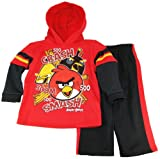 Angry Birds Toddler Boys Hooded Fleece Jacket with Pants 2Pc Set