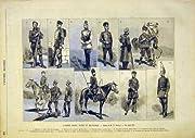 ロシアの陸軍の均一軍のフランス語は 1891 を印刷します