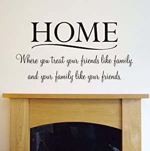 HOME 39 Wall Quote Sticker For Bedroom Living Room Etc