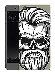 """Old Skull HeadPrinted Designer Mobile Back Cover For """"Oppo F1"""" (3D, Matte, Premium Quality Snap On Case)"""