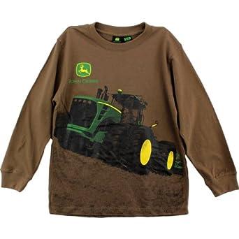 John Deere Tractor Through The Mud Brown T