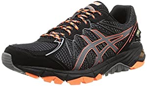 ASICS Gel-Fujitrabuco 3 G-TX, Men's Multisport Outdoor Shoes, Black/Titanium/Orange, 10 UK (45 EU)