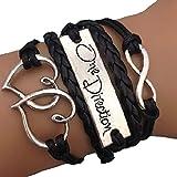 Bracelet One Direction Infini Karma Cœur Noir