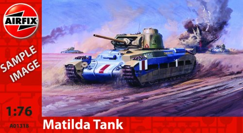 Airfix A01318 Matilda Tank Model Building Kit, 1:76 Scale