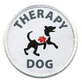 THERAPY DOG Medical Alert 4 inch Sew-on Patch
