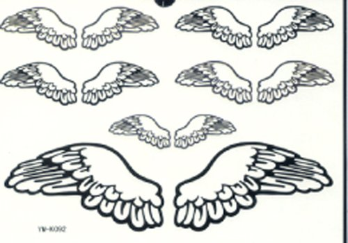 GGSELL GGSELL LATEST new product hot selling waterproof and fashionable Black angel wings tattoo (Where To Buy Angel Wings)