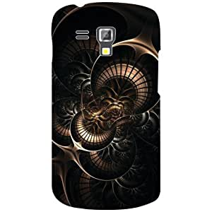 Samsung Galaxy S Duos 7582 Back Cover - Black Print Desiner Cases