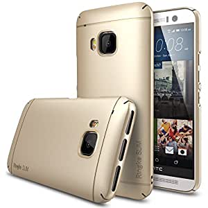 HTC One M9 Case - Ringke SLIM ***Top and Bottom Coverage*** [ROYAL GOLD][FREE HD Clarity Film] Advanced Dual Coating Technology All Around Protection Hard Case for HTC One M9 - ECO Package