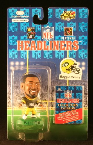 REGGIE WHITE / GREEN BAY PACKERS * 3 INCH * 1996 NFL Headliners Football Collector Figure - 1