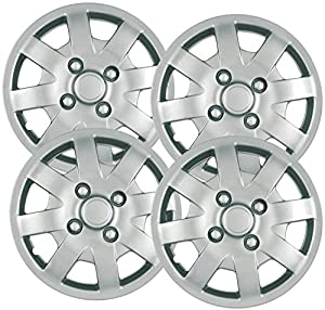 "2000-2002 Nissan Sentra 14"" Silver Clip On Hubcaps (Set of 4)"