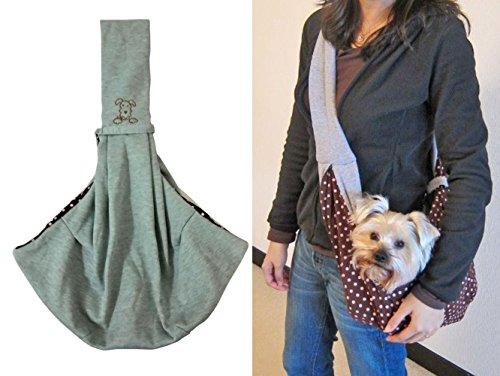 Penta Angel Chico Reversible Pets Sling Carrier Pet Dog Cat Carrier Pet Cloth Totes Single Shoulder Bag (Grey)