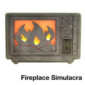 """Miniature LED TV Fireplace: Playful LED Accent Lighting, """"Geek Chic Ambiance"""""""