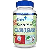 Detox Colon Cleanse By Terrapur, Super Max Colon Cleanse, New & Improved Formula. Before Looking to Shed the Pounds Use This Amazing Detox Cleanse To Jump Start Your Weight Loss Efforts. Flushing Harmful Waste Helps Remove Stubborn Belly Fat Making You Feel Lighter and Healthier, Manufactured in a GMP Certified Organic Facility, Potency and Purity Guaranteed!!