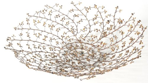 Tag Winter Bouquet Wire Berry Bowl, Antique Gold