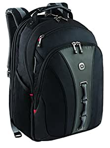 "Wenger 600631 LEGACY 16"" Laptop Backpack with Airport Friendly Notebook Compartment (Black / Grey)"