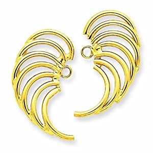14k Polished Swirl Shaped Earring Jackets