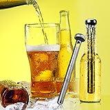 Beer Chiller Stick Pack Of 2, Schbake Stainless Steel Bottle Wine Beverage Cooler Cooling Sticks