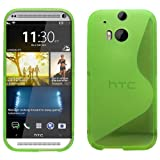 Sleek Gadgets® - S Line Gel Case Cover for HTC One 2 M8 (2014) (Green)