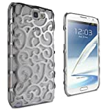 Lumii Ark Electroplating Hollow Chrome Pattern Design Back Cover PC Case for Samsung Galaxy Note 2 / N7100- Silver