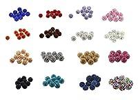 Mandala Crafts® Wholesale Jewelry Making Shamballa Lot of 10 Rhinestone Charm Beads