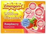 #7: Emergen-C 1,000 Mg Vitamin C, Raspberry Flavor, 30 Packets