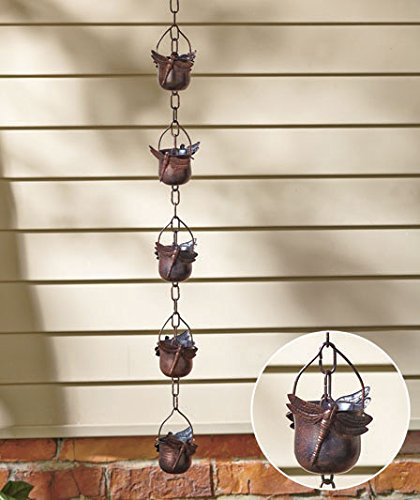 Decorative Iron Dragonfly Rain Chain (Rain Chains For Gutters compare prices)