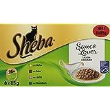 Sheba Sauce Lover (MSC) Katzenfutter, 32 Schalen (4 x 8 x 85 g)