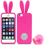 Fosmon JEL Series Bunny Design Silicone Case for Apple iPhone 5 / 5S (Pink)