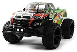 Big Wheel King Electric RC Truck 1:10 Monster RFS Off Road RTR (Colors May Vary) HUGE Size
