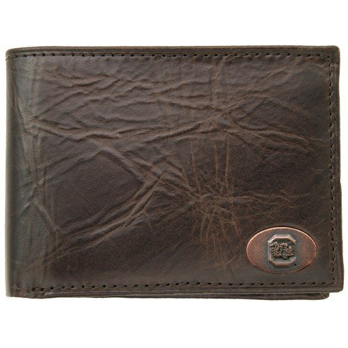 Fossil South Carolina Gamecocks Brown Leather Traveler Wallet