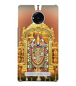Sri Venkateswara 3D Hard Polycarbonate Designer Back Case Cover for YU Yunique