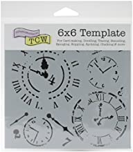 Crafters Workshop Crafter39s Workshop Template 6 by 6-Inch Time Travel