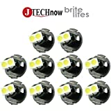 Jtech 10 x T4.2 Neo Wedge 1210 3528 SMD LED White Car Instrument Cluster Panel Lamps Gauge Bulbs