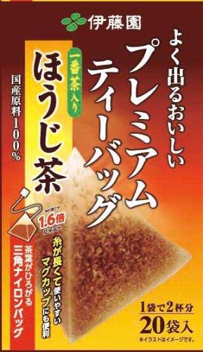 Itoen Hojicha (Roasted Green Tea) Premium Bag Pack Of 20