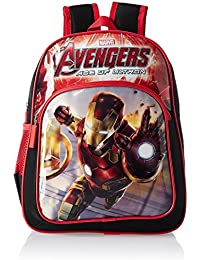 Iron Man Polyester 14 Cms Black And Red Children's Backpack (MBE-WDP0405)