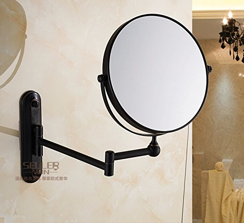 Bronze Wall Mounted Makeup Mirror front-1058086