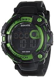 Sonata Ocean Series II Digital Black Dial Mens Watch - 77010PP03J