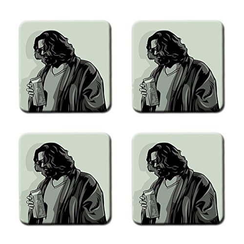 The Dude The Big Lebowski Fashion Custom Square Cork Cup Mat coaster Can Water Bottle Drink