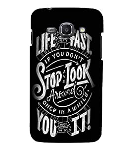 Stop And Look Around Cute Fashion 3D Hard Polycarbonate Designer Back Case Cover for Samsung Galaxy Ace 3 :: Samsung Galaxy Ace 3 S7272 Duos :: Samsung Galaxy Ace 3 3G S7270 :: Samsung Galaxy Ace 3 LTE S7275