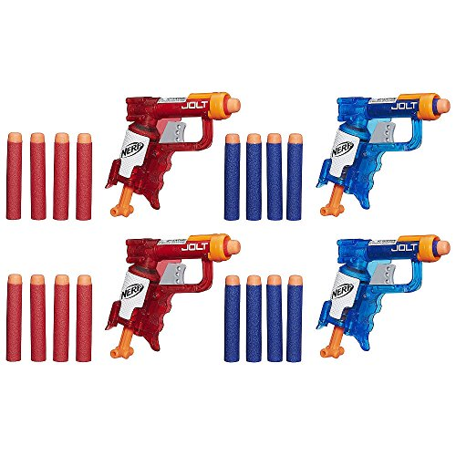 NERF N-Strike Elite Sonic Fire and Ice Jolt Team Pack of Four Blasters (Mini Nerf compare prices)