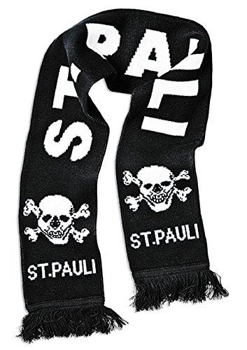 FC St. Pauli teschio sciarpa scarf, nero