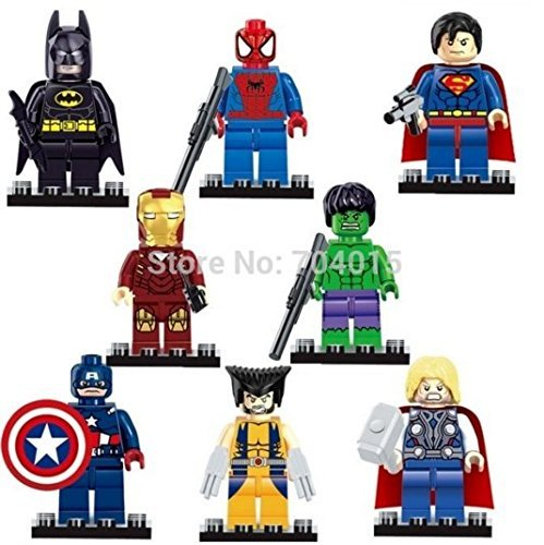 The Avengers Marvel DC Super Heroes Series 8 Pcs Set Minifigures Building Toys New Kids Gift Compatible With Lego