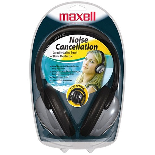 Maxell Full-Sized Noise-Canceling Headphones, Hp/Nc-Ii