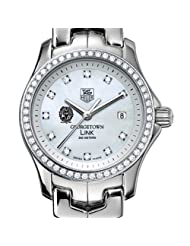 Georgetown University TAG Heuer Watch - Women's Link with Diamond Bezel