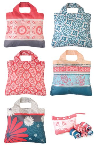 Envirosax Sunkissed Reusable Shopping Bags 5-pack