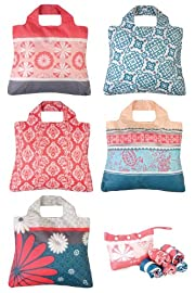 Omnisax Sunkissed Reusable Shopping Bags 5-pack