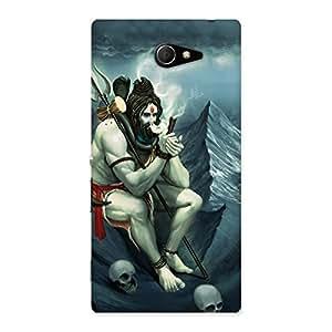 Premium Om Shiva Multicolor Back Case Cover for Sony Xperia M2