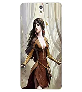 ColourCraft Beautiful Girl Design Back Case Cover for SONY XPERIA C5 ULTRA DUAL