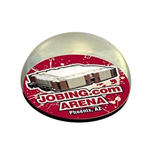 NHL Phoenix Coyotes Jobing.com Arena HK in Large Crystal Half-Moon 3-Inch Paperweight