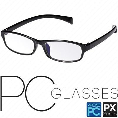 パソコン用 PCメガネ めがね 眼鏡 ブルーライト/青色光 低減 カット 405PC PXシリーズ グレインブラック